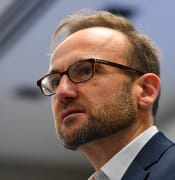 Australian Greens leader Adam Bandt speaks during the Australian Education Unions (AEU) 36th Annual General Conference at the Australian Education Union Federal Office in Melbourne, Friday, February 21, 2020. (AAP Image/James Ross) NO ARCHIVING