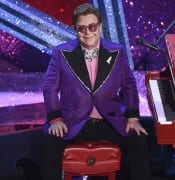 FILE - In this Sunday, Feb. 9, 2020, file photo, Elton John is seen after performing