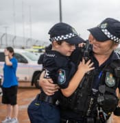 Savannah Burns with constable Kimberly Allen. PHOTO: Ali Kuchel