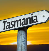 Tasmania sign bigstock82222079