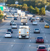 Busy australian highway at peak hour