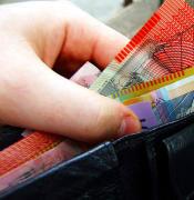 Australian banknotes in wallet