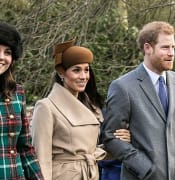 Prince Harry and Meghan Markle on Christmas Day 2017
