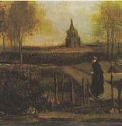 Van Gogh - Der Pfarrgarten in Nuenen mit weiblicher Figur
