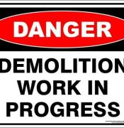 danger DEMOLITION WORK IN PROGRESS 2000x
