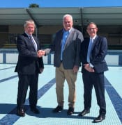 RCMB Media Release Murray Bridge Swimming Centre Masterplan Funding image Mayor Brenton Lewis Member for Hammond Adrian Pederick CEO Michael Sedgman web size