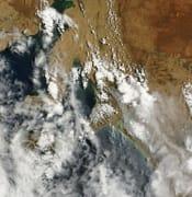 NASA SA bushfires hills from above birdseye