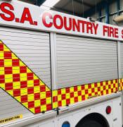 CFS firetruck by Jennie Lenman