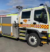 Murray Bridge pumper fire truck by Dean Norman supplied by CFS