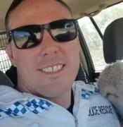 Policeman and sheep