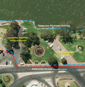 Renmark Riverfront works map