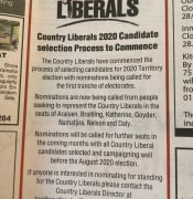 CLP Ad in Saturdays NT News