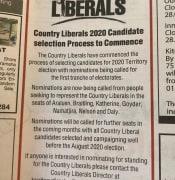 CLP Ad in Saturdays NT News