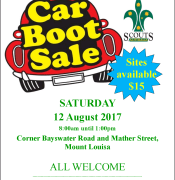 Mount Louisa Scout Group Car Boot Sale