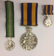 War medals recovered by police in Maddingley 18 June 2018.jpg