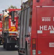 CFA fire trucks line 2018Mar17BalaratMar18BallanEEF 094.JPG