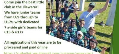 Shamrocks Junior Rugby Registration