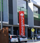 A general view of the Royal Adelaide Hospital in Adelaide, Monday, March 30, 2020. The Australian Government has announced even tighter restrictions around social gatherings, and boosted stimulus spending, in attempts to fight off the coronavirus and it