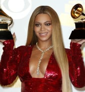 epa08840146 (FILE) - US singer Beyonce poses in the press room during the 59th annual Grammy Awards ceremony at the Staples Center in Los Angeles, California, USA (reissued 24 November 2020). Beyonce was nominated for nine awards at the 63rd Grammy Awards, making her the most-nominated female artist in Grammy history with a total of 79 in her career. The 63rd Grammy Awards will be broadcasted on 31 January 2021.  EPA/MIKE NELSON