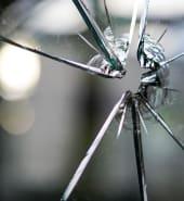 broke glass window