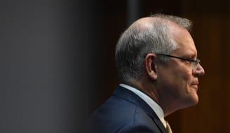 Prime Minister Scott Morrison announces the government