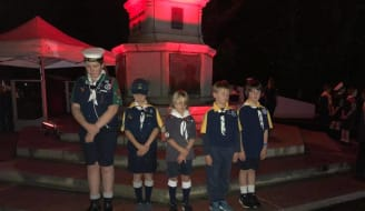Sea scouts at cenotaph