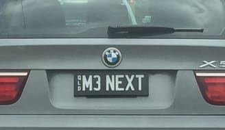 600px 2007 Queensland registration plate M3 NEXT personalised on BMW