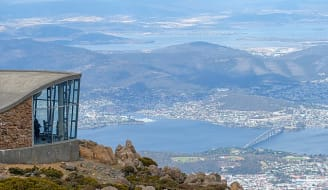 640px Mt Wellington looking down on Hobart Tasmania