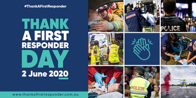 Slider Thank A First Responders Day TEAL Tiles
