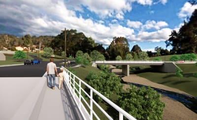 Artists impression of the new Murrabrine Bridge at Cobargo