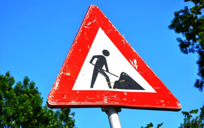 Traffic Sign, Warning, Roadwork, Traffic, Sign, Road