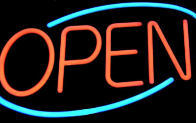 Open Sign, Sign, Signage, Neon, Light, Bright, Open