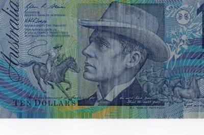 Australian $10 note. plastic