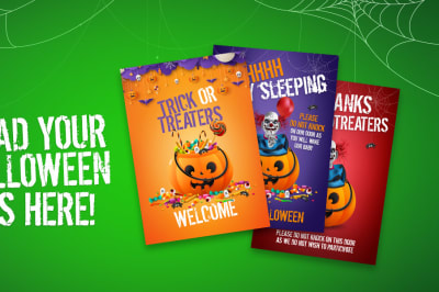 Halloween Posters Here 1200x600