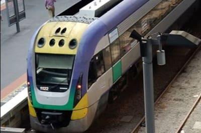 Vline trains at southern crosss station melbourne 8cc h