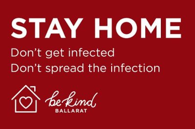 Stay home Image City of Ballarat