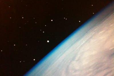 Earth in space desktop detail