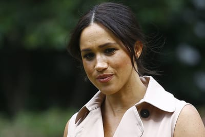epa09004864 (FILE) - Meghan the Duchess of Sussex pictured during a function at the British High Commissioners residence, Johannesburg, South Africa, 02 October 2019 (reissued 11 February 2021). The Duchess of Sussex has won her High Court privacy claim against the a British newspaper over the publication of a letter to her father Thomas Markle.  EPA/KIM LUDBROOK *** Local Caption *** 55515685