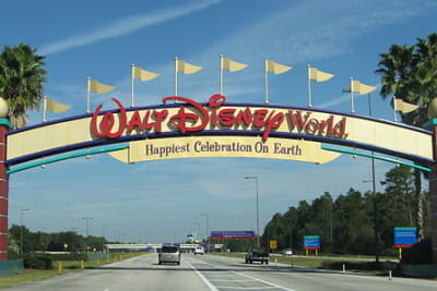 Disney World - Entrance sign - by inkiboo