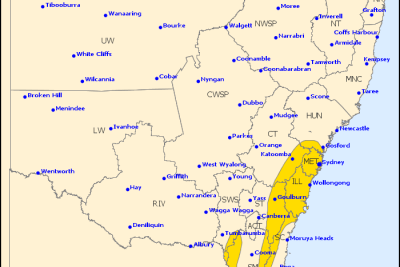 bureau of meteorology picture damaging winds