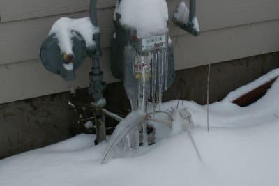 frozen water meters