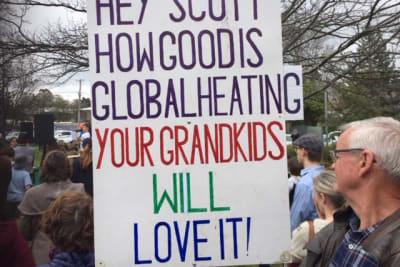 glebe park climate strike 2