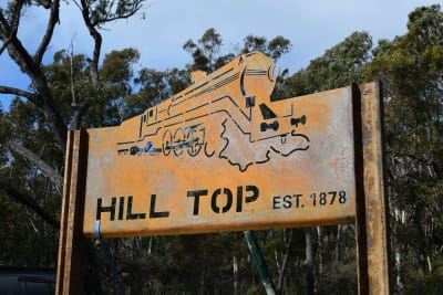 hill top signage august 1