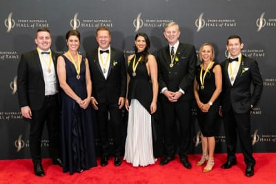 russell mark 3rd from left at australian sports hall of fame inductee ceremony 10 oct 2019 pic russell mark IMG 6427