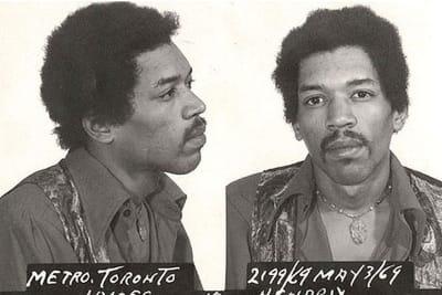 Jimi Hendrix Mug Photo