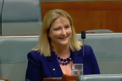 Sharkie in parliament.JPG