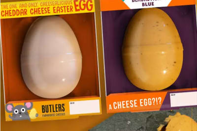 easter cheese eggs