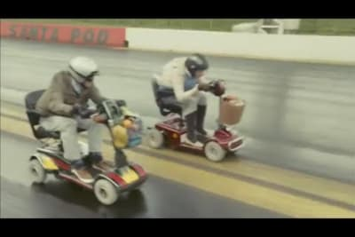 Mobility scooter racing