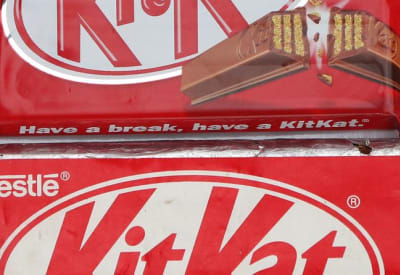 The new KitKat (top) and the 22-year-old version (bottom).