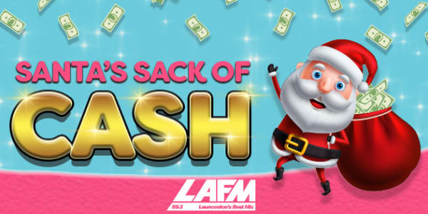 lafm Launceston Santas sack of cash slider